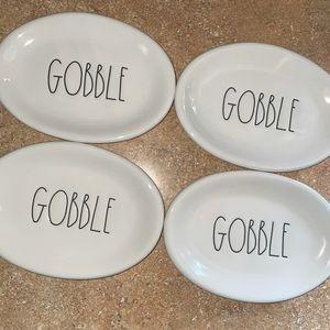"""BNWOT Rae Dunn """"Gobble"""" plates"""